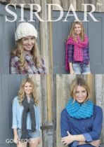Sirdar Gorgeous - 7964 Woman's Snood, Hat and Scarves Knitting Pattern